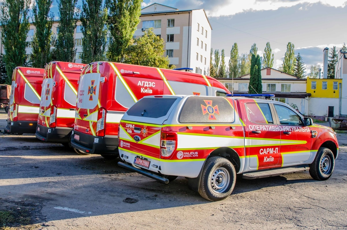 Emergency and rescue cars of the Kyiv City State Tax Inspectorate