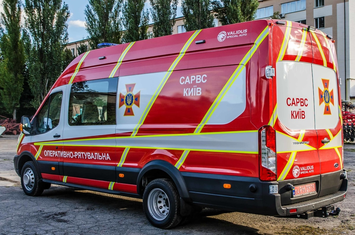 Special vehicle of rescue and diving service of the State Emergency Service of Kyiv (SARVS)